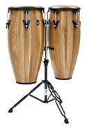 Latin Percussion Aspire Jamjuree Wood Conga Set with Double Stand
