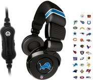 iHip Official Licensed NFL Pro DJ Headphones with Microphone