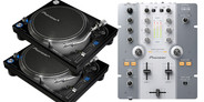 Pioneer PLX-1000 Turntables and DJM-250 Mixer bundle