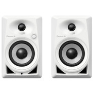 Pioneer DM-40-W Compact Active Monitor Speaker Pair With 4 Woofers (White)