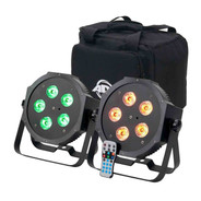 ADJ Mega 64 Hex Pak: 2x Mega 64 HEX LED Par Lights with an ADJ Carry Bag & Remote