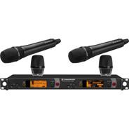 Sennheiser 2000 Series Dual Handheld Wireless Microphone System (Black KK 205)