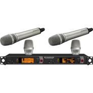 Sennheiser 2000 Series Dual Handheld Wireless Microphone System (Nickel KK 205)