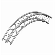 Trusst 290mm (12in) Truss arc (90°), creates 3m (9.8ft) outside diameter circle (includes 1 set of connectors)