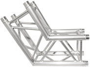 Trusst 290mm (12in) Truss, 2-Way, 120° Corner (6pcs makes a hexagon) (includes 1 set of connectors)