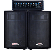 """Harbinger M120 120-Watt 4-Channel Compact Portable PA with 12"""" Speakers (PRE-OWNED)"""