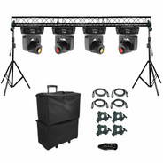 (4) Chauvet DJ Intimidator Spot 155 LED Moving Heads & Truss System Package