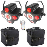 (2) Chauvet DJ Circus 2.0 IRC with Remote & Cases Package