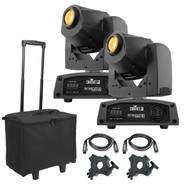 (2) Chauvet DJ Intimidator Spot 155 Compact LED Moving Heads Package