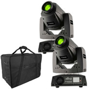 (2) Chauvet DJ Intimidator Spot 255 IRC Moving Heads & Carry Bag Package