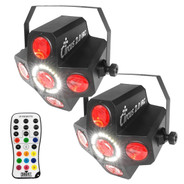 (2) Chauvet Circus 2.0 IRC & IRC-6 Remote Package