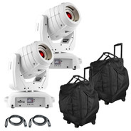 (2) Chauvet DJ Intimidator Spot 355 IRC feature Packed LED Moving Head in White Package