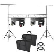 (2) Chauvet DJ Intimidator Spot Duo 155 Dual Compact LED Moving Heads & Lighting Truss System Package