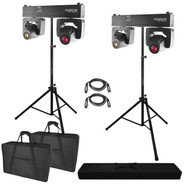 (2) Chauvet DJ Intimidator Spot Duo 155 Dual Compact LED Moving Heads & Tripod Stand Package