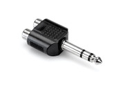 Hosa Adaptor Dual RCA to 1/4 in TRS