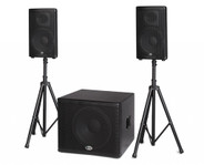"B-52 MATRIX-2500 BBE 1600w  Three Piece Active System - 18"" Subwoofer + 2 x 12"" Tw o-w ay With BBE Sonic Maximizer"