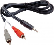 Hosa 1/8in to Dual RCA