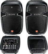 JBL EON210P Portable PA Sound System with Mixer