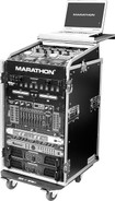 Marathon MA-11M16UWLT Amp Rack Combo with Laptop Stand and Wheels