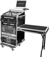 Marathon MA-11M16UCTLT Amp Rack with DJ Table and Wheels