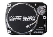 DJ-Tech SL-1300 MK6 Quartz Drive DJ Turntable - Black