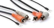 Hosa CRA Stereo Interconnect - Dual RCA to Same with Ground Wire