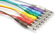 Hosa CPP Unbalanced Patch Cables - 1/4in TS to Same, 8pc