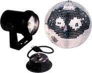 "American DJ M-300L 8"" Mirror Ball Package"