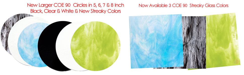 COE 90 Streaky Glass & Precut Glass Circles