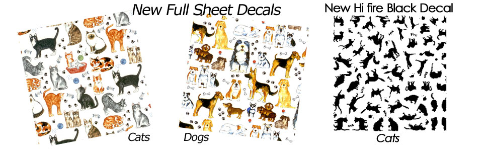 Fusible Cats & Dogs Decals