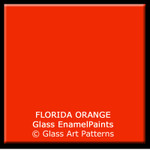 Florida Orange (Must Cap, Not Lead Free)  Fusible Glass Enamel Paint 25 grams