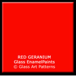 Fusible Glass Enamel Paint RED GERANIUM Multi-COE Compatible