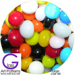 COE 90 Fusible Glass Pebbles: MULTI COLOR Opaque Mix 1/2 inch (12.7 mm) Qty 25+ 90920-P