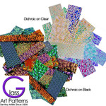 Dichroic Textured Scrap Glass 3 to 5mm thick - COE 96 - 1.5 ounces