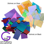 Dichroic Thin Variety Scrap Glass 2mm thick - COE 96 - 1 ounces
