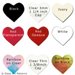 COE 96 Precut Fusible Dichroic Glass Heart 1 1/4 inch 9 Colors 96872