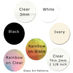 COE 96 Precut Fusible Glass Circles 1 inch 25mm (96821)