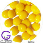 COE 96 Fusible Glass Pebbles Sunflower Yellow opaque 1/2 inch (12.7 mm) 96987-P
