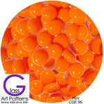 "COE 96 Fusible Small Glass Pebbles: ORANGE opaque 1/4"" (96976-PS)"