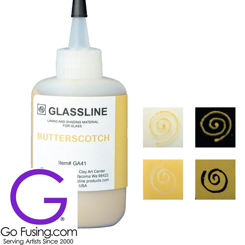 Butterscotch Glassline Paint Pen GA47 Fusible | Go Fusing