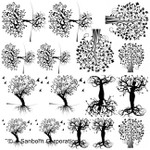 "LOW to HI FIRE Tree of Life I (Lead Free) Black Enamel Fusible Decal (4"" x 4"")"