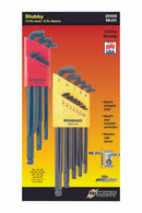 "Set 22 Stubby Ball End L-Wrenches In/Mm Double Pack - 16537 (.050-3/8"") + 16599 (1.5-10Mm) - 20599 - Quantity: 1"