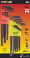 "Set 22 Prohold® Tip Ball End L-Wrenches In/Mm Double Pack - 74937 (.050-3/8"") + 74999 (1.5-10Mm) - 20499 - Quantity: 1"
