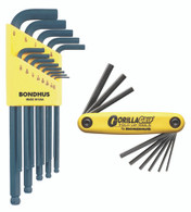 "Set 22 Ball End L-Wrenches In And Hex Fold Up Double Pack - 10937 (.050-38/"") + 12589 (Hex Fold Up 5/64-1/4"") - 14189 - Quantity: 1"
