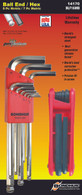 Set 16 Briteguard Ball End L-Wrenches Mm And Hex End Fold Up Mm Double Pack - 16999 (1.5-10Mm) + 12587 (Hex Fold Up 2-8Mm) - 14170 - Quantity: 1