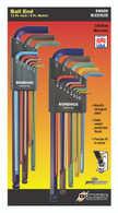 "Set 22 Colorguard Ball End L-Wrenches In/Mm Xl Double Pack - 69637 (.050-3/8"") + 69699 (1.5-10Mm) - 69600 - Quantity: 1"