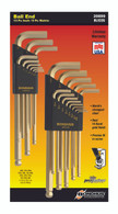 """Set 22 Goldguard Ball End L-Wrenches In/Mm Double Pack - 37937 (.050-3/8"""") + 38099 (1.5-10Mm) - 20899 - Quantity: 1"""