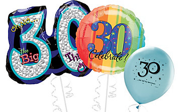 30th Birthday Balloons Delivered