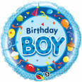 "18"" Round Foil Birthday Boy Blue"