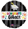 """18"""" Congrats Grad Wavy Bursts"""